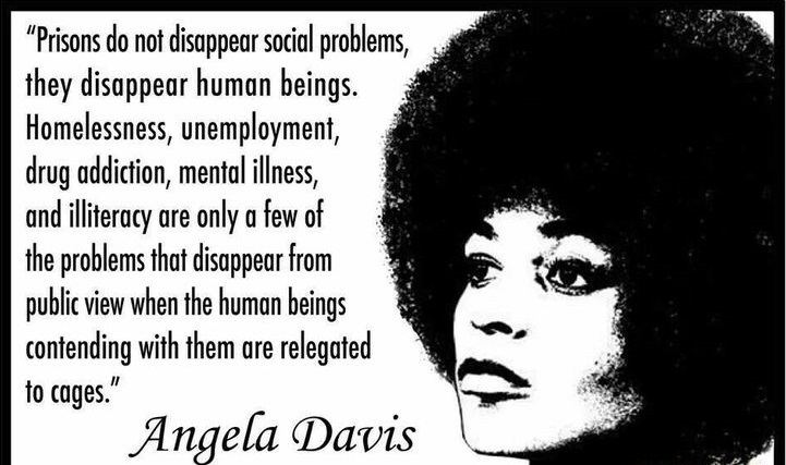 The prison-industrial complex is a termed coined by Angela Davis to describe the state of prisons in the US.